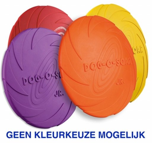 Rubber Frisbee Dog 0 Soar Assorti 22 Cm