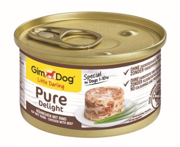 Gimdog Little Darling Pure Delight Kip / Rund 12x 85 Gr