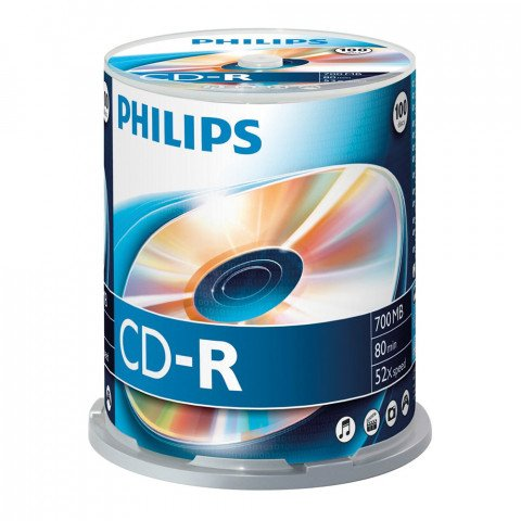 Philips CD-R 700MB 52xspeed spindle 100 stuks