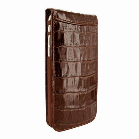 Piel Frama iPhone 8 / 7 Classic Magnetic Croco Brown