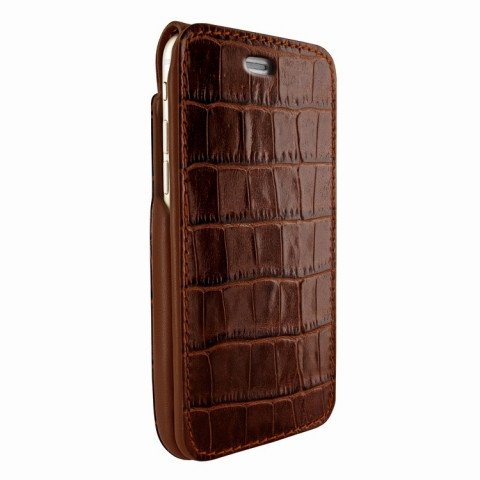 Piel Frama iPhone 8 / 7 iMagnumCards Croco Brown