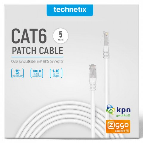 netwerkkabel (UTP) CAT6 5,0m