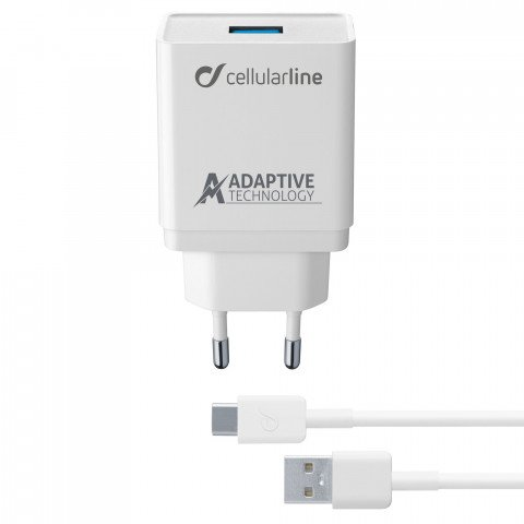 thuislader USB-C 3.0A wit