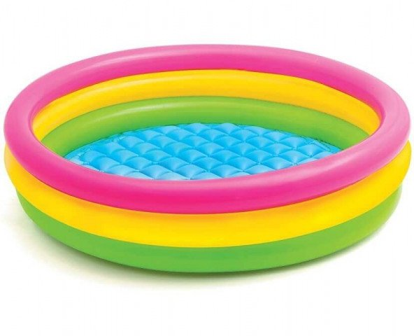 SUNSET GLOW POOL. 3-Ring. w/ Infl. Floor. Ages 2+. Shelf Box