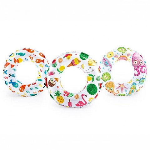 LIVELY PRINT SWIM RINGS. Ages 6-10. 3 Styles