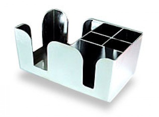 Bar Caddy Chrome 6-prt