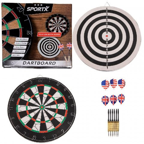 SportX Dartbord Flocked met 6 Darts