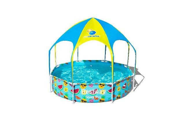 Bestway my first frame pool splash-in-shade play rond 244 - Afm. 244 x 51cm - inhoud 1688 liter