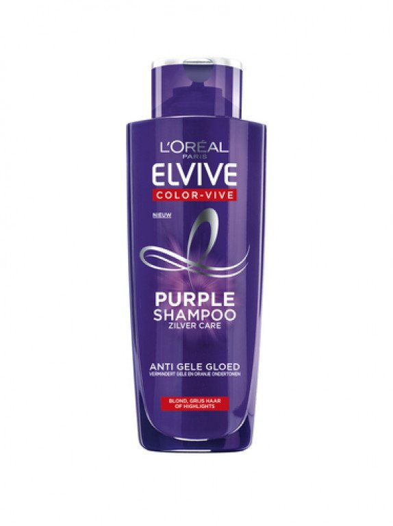 Elvive Shampoo 200ml Purple Zilver Care