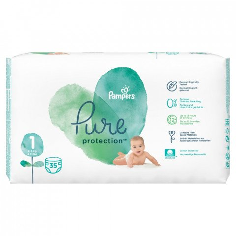 Pampers Luiers Pure Protect Maat 1 35st