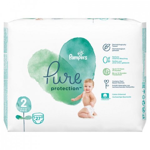 Pampers Luiers Pure Protect Maat 2 27st