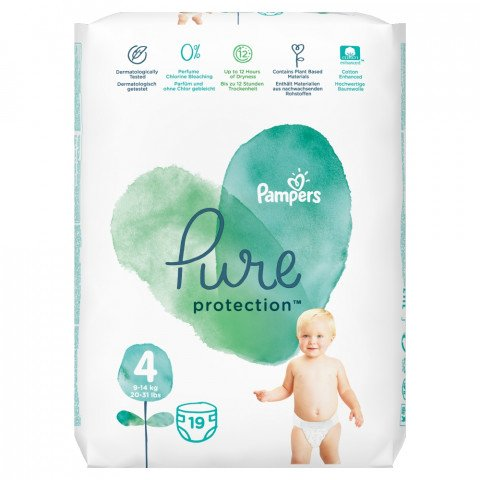 Pampers Luiers Pure Protect Maat 4 19st