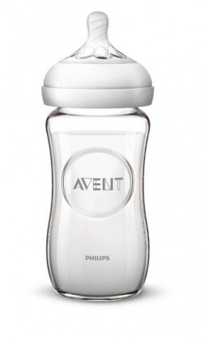 Avent Zuigfles Natural 240ml 1m+ Glas