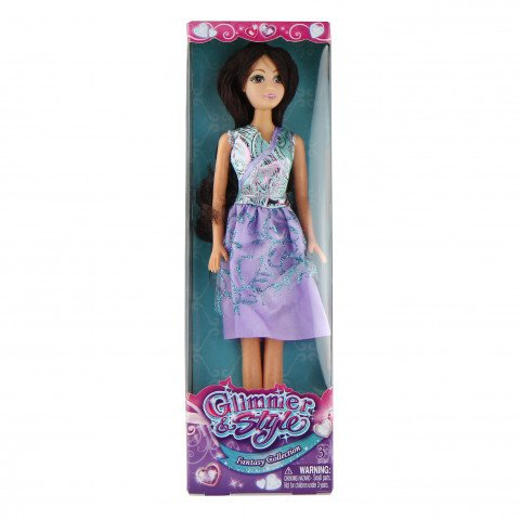Glimmer Style Prinses Dress - Paarse jurk