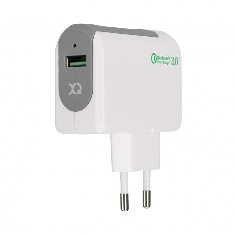XQISIT Qualcomm 3.0 Travel Charger Single USB EU white