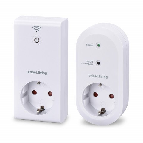 ednet. power Starterset, 1x Gateway, 1x Smart Plug white