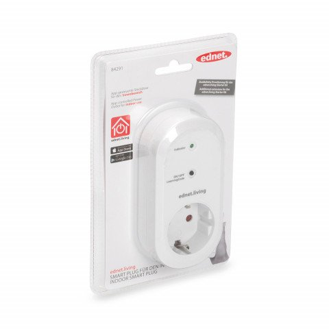 ednet. power smart Plug indoor receiver unit white