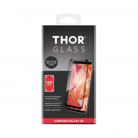 THOR CF FG Glass with Applicator for Galaxy S9 black