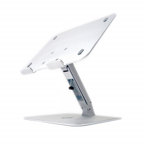 Desire2 Laptop Stand Fully Adjustable Riser silver colored