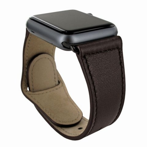 Piel Frama Watch Leather Strap 42mm Brown Black