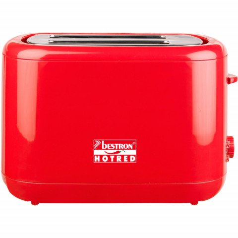 Bestron ATS300HR Broodrooster (Rood)