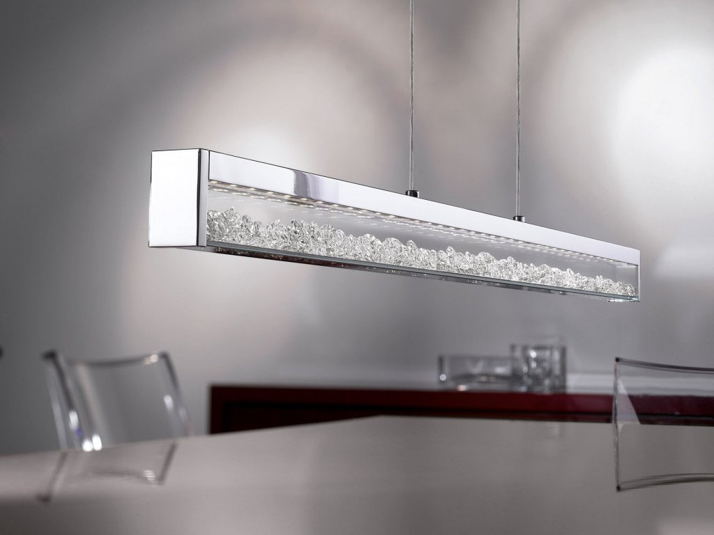 Cardito hanglamp LED kristal 1000 mm breed