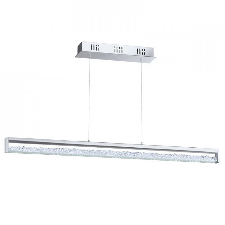 Cardito 1 hanglamp LED kristal met touchfunctie 1000 mm breed