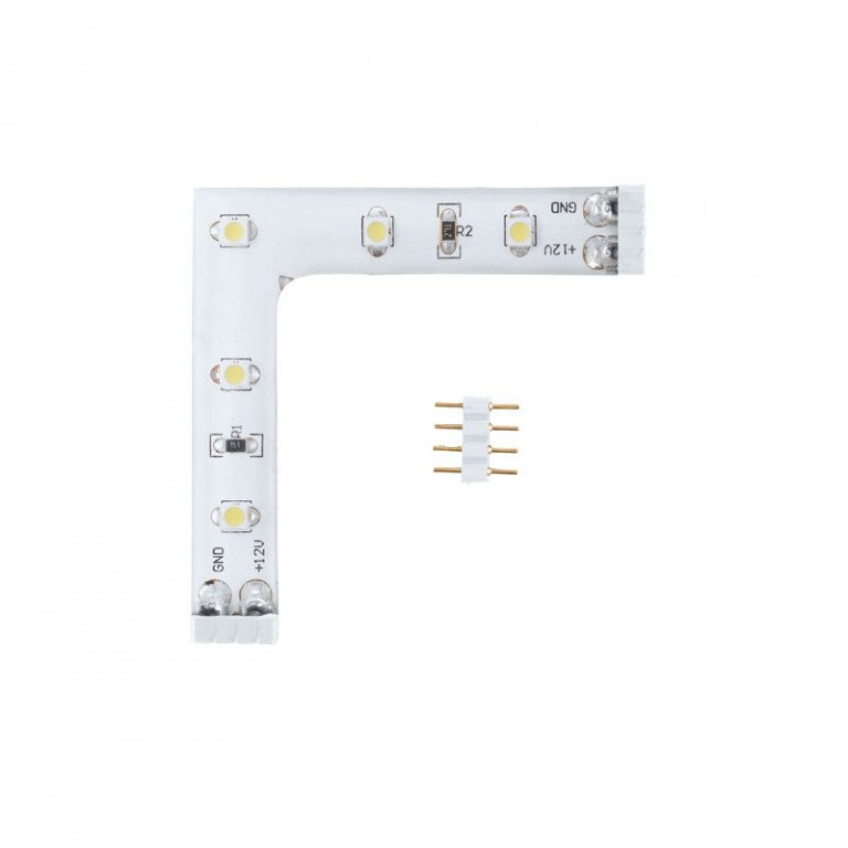 LED Stripes-Module L-connector hoekverbinding warmwit