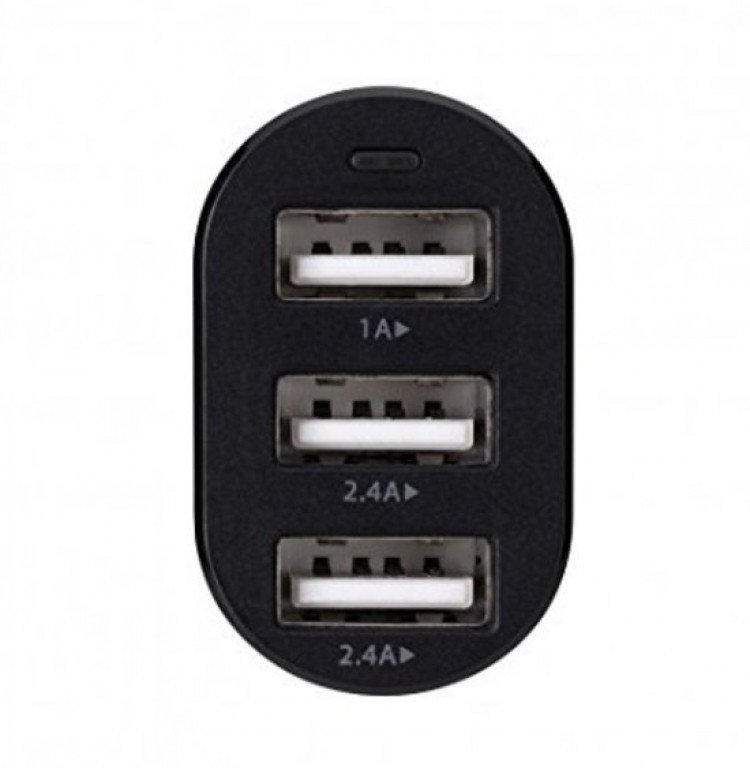 Xqisit Autolader 3 Port USB 5.8A Black