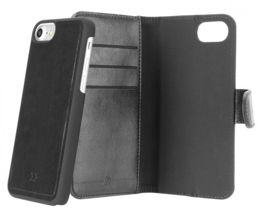 Xqisit Wallet Case Eman iPhone 8 / 7 / 6(S) Black