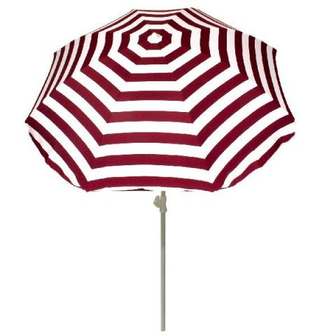 Summertime Parasol 180 Rood/wit