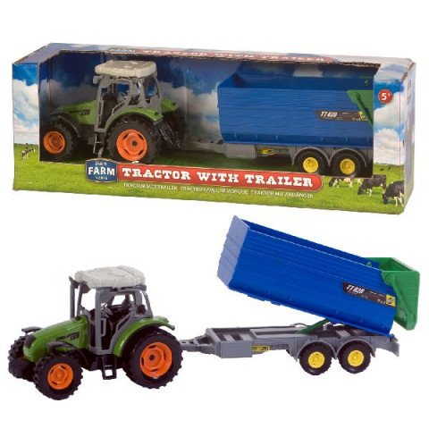 Dutch Farm Line Tractor groen + Trailer 1:32