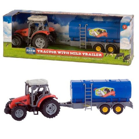 Dutch Farm Line Tractor rood + Trailer 1:32