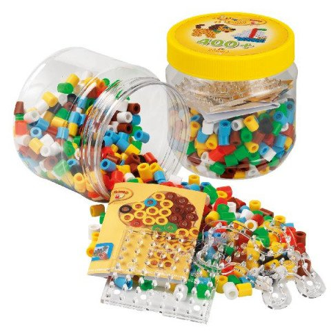 Hama Maxi beads and pegboards in tub