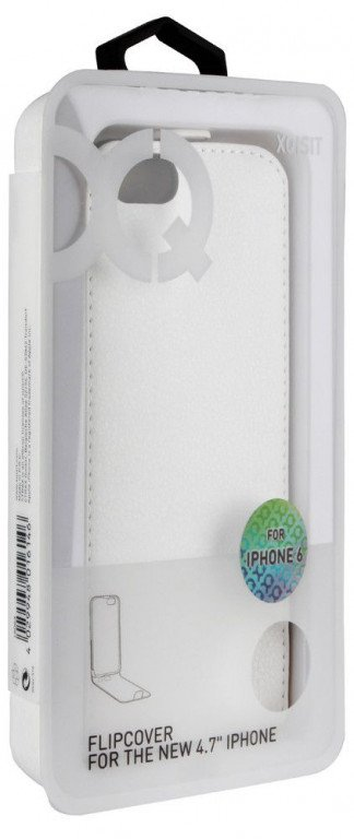 Xqisit Flipcover iPhone 6/6S White package