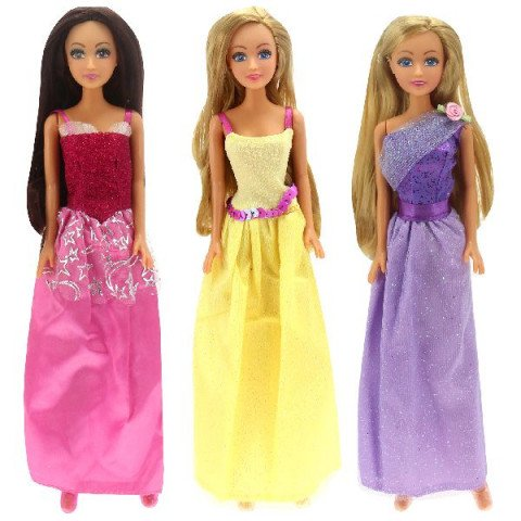 Glimmer Style prinses long dress ass.