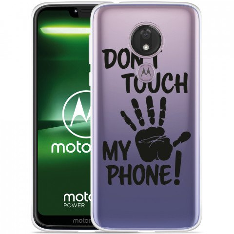 Moto G7 Power Hoesje Don't Touch My Phone