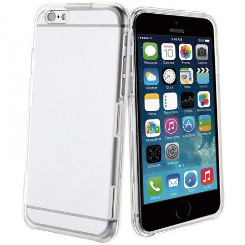Muvit iPhone 6/6S Plus Crystal Case Rugged Transparant