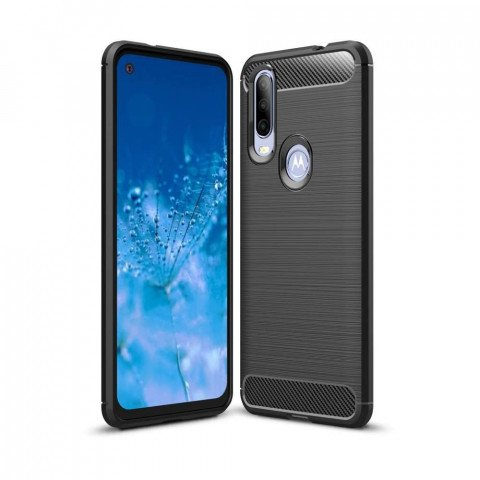 Just in Case Rugged TPU Motorola One Action Case (Black)