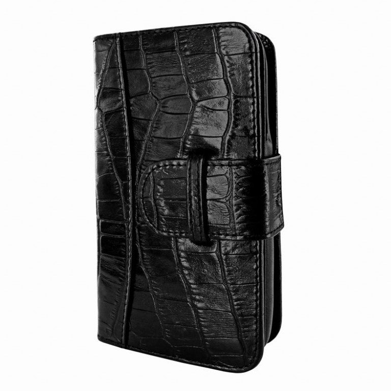 Piel Frama iPhone 6/6S Plus Wallet Croco Black