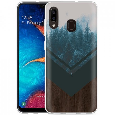 Galaxy A20 Hoesje Forest wood