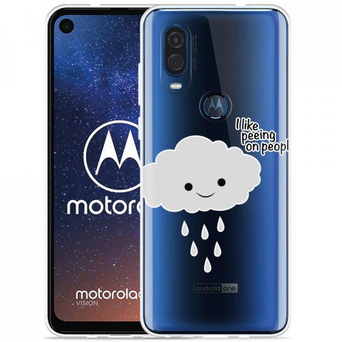 Motorola One Vision Hoesje Cloud
