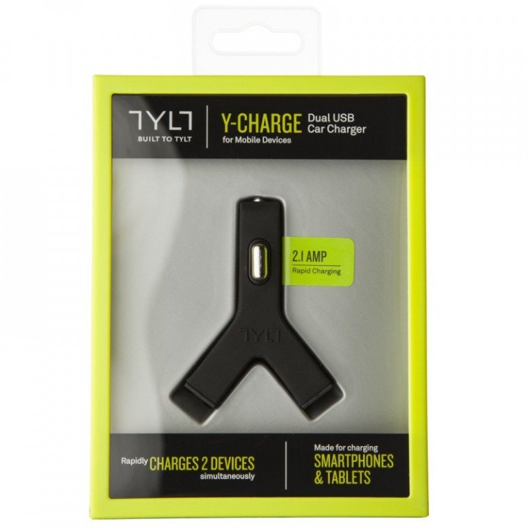TYLT 2.1 - Dual USB Car Y-Charger Black