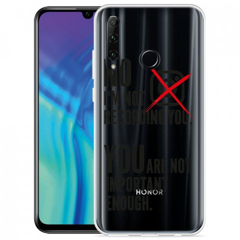 Honor 20 Lite Hoesje Not recording you