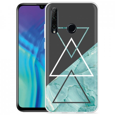 Honor 20 Lite Hoesje Turquoise Marble Art