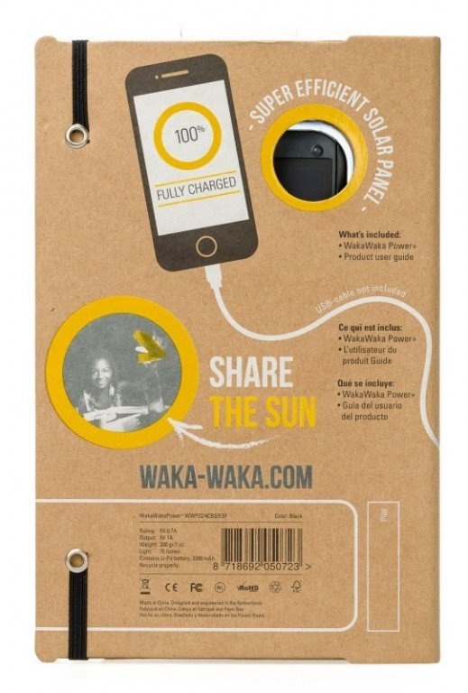 WakaWaka Solar Powered - Power Plus Zwart