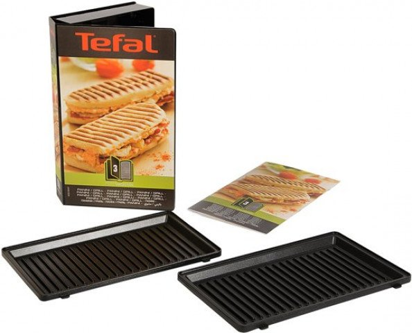 Tefal grill-/paniniplaten Snack Collection contactgrills - XA800312