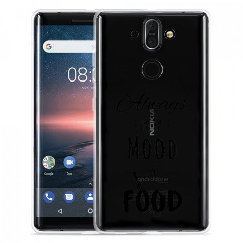 Nokia 8 Sirocco Hoesje Mood for Food Black