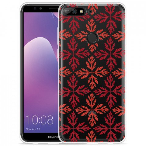 Honor 7C hoesje Red Leaves Pattern