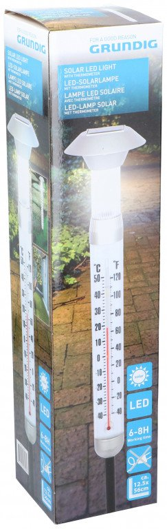 Lamp solar & thermometer PP